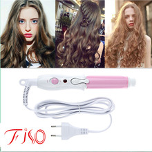 Mini Portable Electric Hair Curler Personal Hair Styling Tools Thermostatic Wavy Tourmaline ceramic Curling Iron