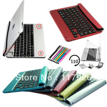 Rotating Wireless bluetooth keyboard case mini pc keyboard aluminum case keyboard for Apple iPad Mini 1 2 3+Free pen