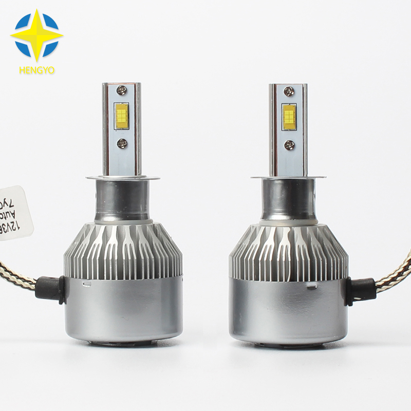 Car led Headlight H3 LED Bulb 3800Lm 36W H3 Fog Lamps H1 DC 9V~36V   6000K Truck Lighting White #C6F<br>