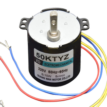 50KTYZ AC motor 220V motor micro slow speed machine 10W 2.5-50rpm  permanent magnet synchronous motor small motor