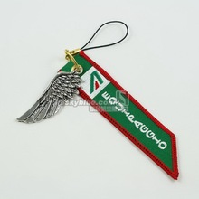 Alitalia Italy Airline   Luggage bag Tag with Metal Wing  Green Cool Gift for Aviation Lover Flight Crew