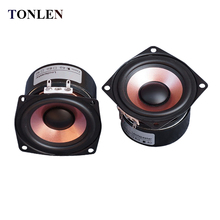 TONLEN 2PCS Full Range Speaker 2.5 inch 4 ohm 8ohm Soundbar Subwoofer Tweeter HIFI Bluetooth Portable Speaker Audio Home Theater