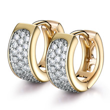 MOLIAM Wedding Jewelry Earrings Fashion 2016 High Quality Crystals Brinco Small Hoop Earings For Womens Jewellery Gift MLE190