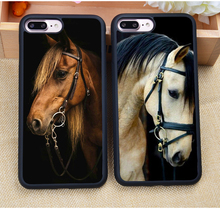 New Arrival Handsome Horse Animal Phone Case For iPhone 7 7Plus 6 6S Plus 5 5S 5C SE 4S Soft Rubber Skin Case Cover Coque Fundas