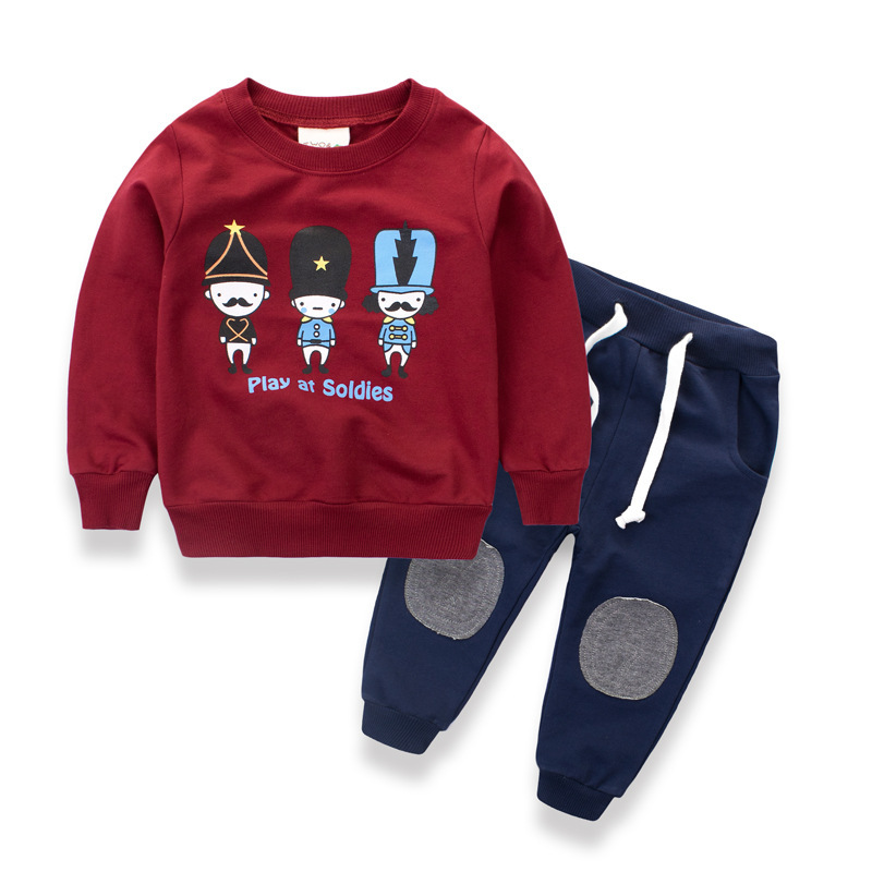 2-8 Y New Arrival Boy Clothing Set Kids Sports Suit Children Tracksuit T-shirt Pant Baby Sweatshirt Character Casual Clothes<br>