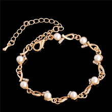 H:HYDE Charm Bracelets & Bangles Gold Color Fashion Simulated Pearl Beads Wedding Jewelry For Women Gift