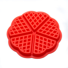 OnnPnnQ Silicone Waffle Mold Maker Pan Microwave Baking Cookie Cake Muffin Bakeware Cooking Tools Kitchen Accessories Supplies(China)