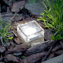 Outdoor LED Solar Ice Brick Light Garden Square Floor Solar powered Buried Light Solar crystal ice cubes underground Light(China)