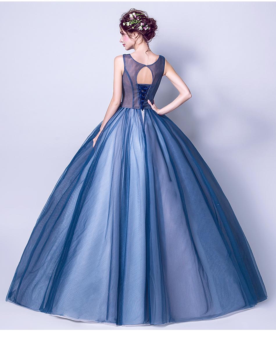 Angel Wedding Dress Marriage Evening Bride Party Prom Bridal Gown Vestido De Noiva Blue camouflage, fantasy flowers 2017 7572 14