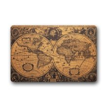 Fashion Living Room Doormat Old Vintage World Map 40x60cm Doormat Custom Door mat Home decor Carpet Fashion Rug