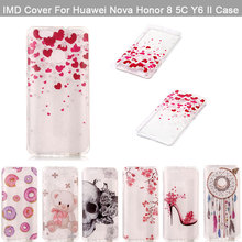 Mobile Phone Cases For Huawei Honor 5c 8 Nova Y6 II Case IMD Silicone Transparent Clear Smartphone Accessories Nova Y6 II Fundas(China)