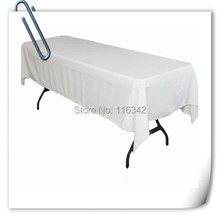 Big Discount !!! 150*320cm Polyester  10pcs Rectangle  table cloth white 180GSM For Wedding Event &Hotel & Banquet Free shipping