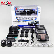 Maisto Dodge 2008 Challeng SRT8 1:24 Scale Assembly Model Car Alloy Diecast Car Toys High Quality Collection Baby Toys Gift
