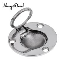 MagiDeal Top Quality Boat Marine 316 Stainless Steel 49mm Round Flush Mount Lift Ring Hatch Pull Handle Rowing Boats Accessory(China)