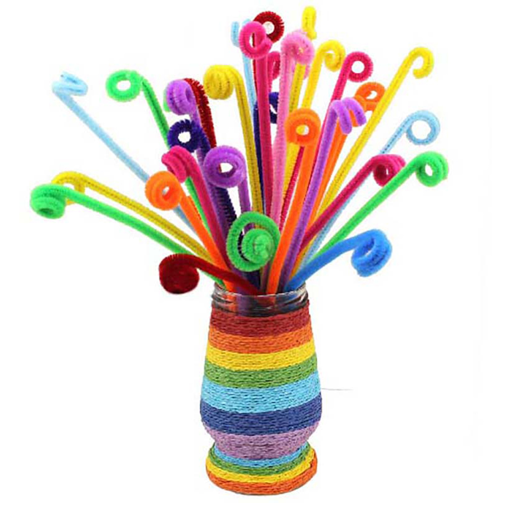 Montessori Materials Chenille Children Educational Toy Crafts Kids Colorful Pipe Cleaner Toys Craft