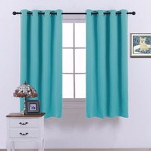 "NICETOWN Ready Made Solid Thermal Insulated Top Eyelet / Ring Room Darkening Blackout Curtains with Grommet  46""/66""  wide"