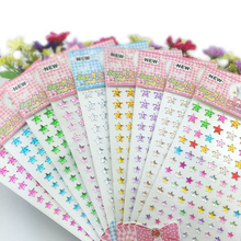 101 Pcs/Set Paper flower Diy Art Acrylic Crystal Scrapbooking Stickers Creative Diamond Paste Five-pointed Star Phone Stickers(China)
