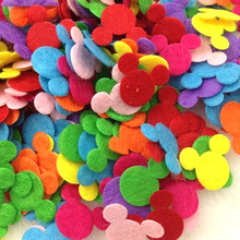 100pcs Mix Color Padded Felt Animal Appliques Craft Kid's Doll Lots E276(China)