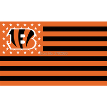 Black Stirp Cincinnati Bengals Logo Sport Flag Super Bowl Champions Football Team Fan World Series 90 X 150 Cm Banner(China)