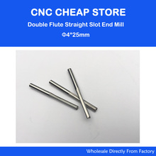 5pcs Double Flute Straight Slot Carbide Cutters CNC Router Bits 4 *25mm