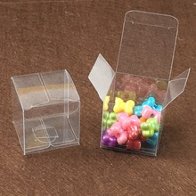 Waterproof 100PCS/Lot 4x4x4cm Clear PVC Gift Package boxes Transparent PVC Box Plastic Display for candy/jewelry/gift/chocolate