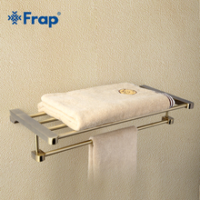 Frap Retro Style Wall Mounted Bronze Surface Towel Bars Bathroom Towel Hanger Bathroom Accessories Towel Rack F1424(China)