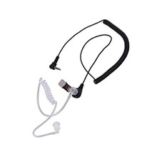 Ordinary 3.5mm Single Listen/Receive Only Covert Acoustic Tube Earpiece Headset For Two Way Radio Speaker Mic Microphone