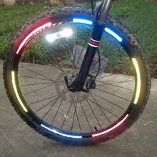 5pcs Bike Bicycle Motercycle Car Reflective Fluorescent Stickers Wheel Reflectores Cycling Wheel Rim Reflective Stickers Decal