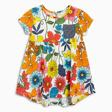 new summer kids dress floral print cotton baby girls dress casual fashion children dresses for girls clothing