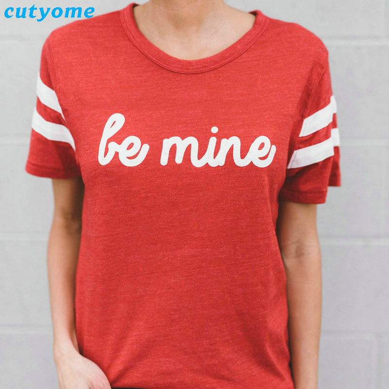 Mother And Daughter Son Clothes Family Matching Clothing BE MINE Short Sleeve T-Shirts Mom Daughter Matching Outfits Tee Shirts (7)