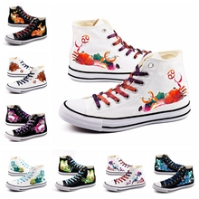 Best Valentine Design Mystery 12 Constellation 조디악 (High) 저 (Top Canvas Shoes Customize 총총 별자리 Printed Lace-업 Walk 슈(China)