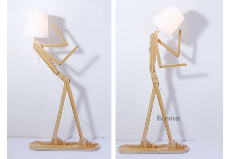 Japanese Style Creative DIY Wooden Floor Lamps Nordic Wood Fabric Stand Light For Living Room Bedroom Study Art Deco Lighting E27 (17)