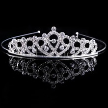 Bridal Wedding Hair Accessories Crystal Rhinestone Crown Headband Stunning Crystal Tiara Wedding Crown Children Tiaras Headband