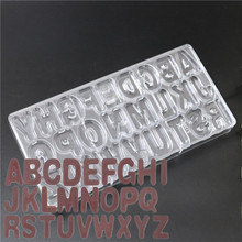 1PC Letters Hard Polycarbonate(PC) Chocolate Mould PC Candy Pasta Tool Injection PC Cake Mold