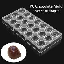Polycarbonate Chocolate Mold Making Tools Sea Snail Shaped DIY Cake Bakery Pastry Tools Rectangle Clear Chocolate Molds