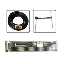 Fmuser 1000W 1KW Fm transmitter+1/4 wave DV2 high gain antenna +30meters feeding tube RF cable(China)