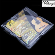 SC12 Guitar Six Strings Nylon Silver Plating Set Super Light for Acoustic Classic Guitar 6pcs/set acoustic guitar strings