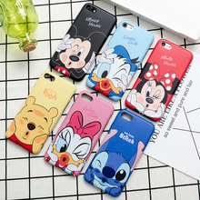 Cartoon characters expressions Scrub TPU Case for iphone 7 7Plus 8 8plus Donald Daisy Soft TPU Case For iphone 6 6s 6plus 6splus(China)