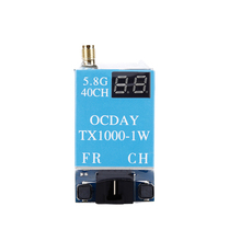Small FPV Transmitter Module 5.8 G 40CH TX1000 1,000 MW 7-26 The Wireless AV Pictures for OCDAY RC Quadcopter Drone(China)