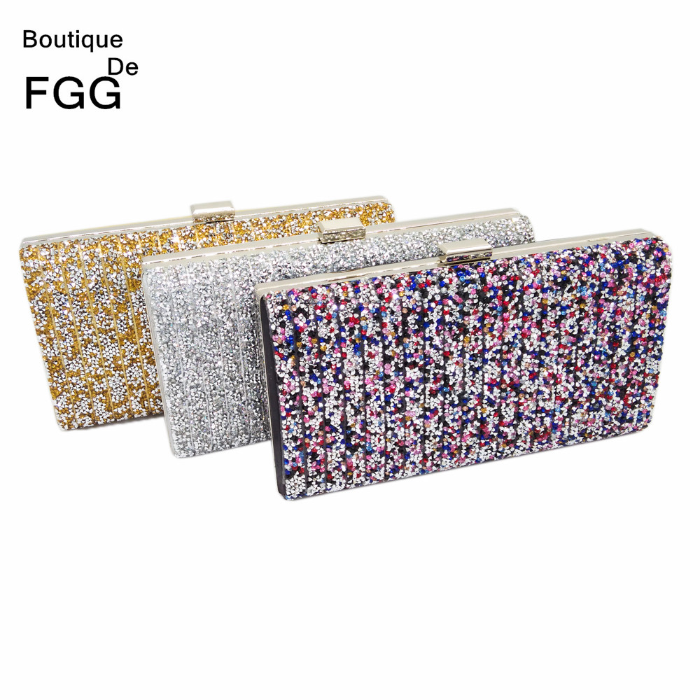 High Quality Hot Fixed Golden Crystals Bridal  Handbags Wedding Clutch Women Dress Metal Clutches Ladies Evening Purse<br><br>Aliexpress