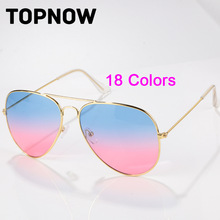 New Brand Designer Sunglasses Women Fashion Gradient Rimless Sunglasses Men Frog Mirror Sunglass Unisex 18 Color Gafas Oculos