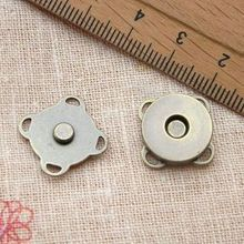 Free Shipping! 100pcs 14mm Antique Bronze Plum Shape Metal Magnet Button for DIY Bags N0004