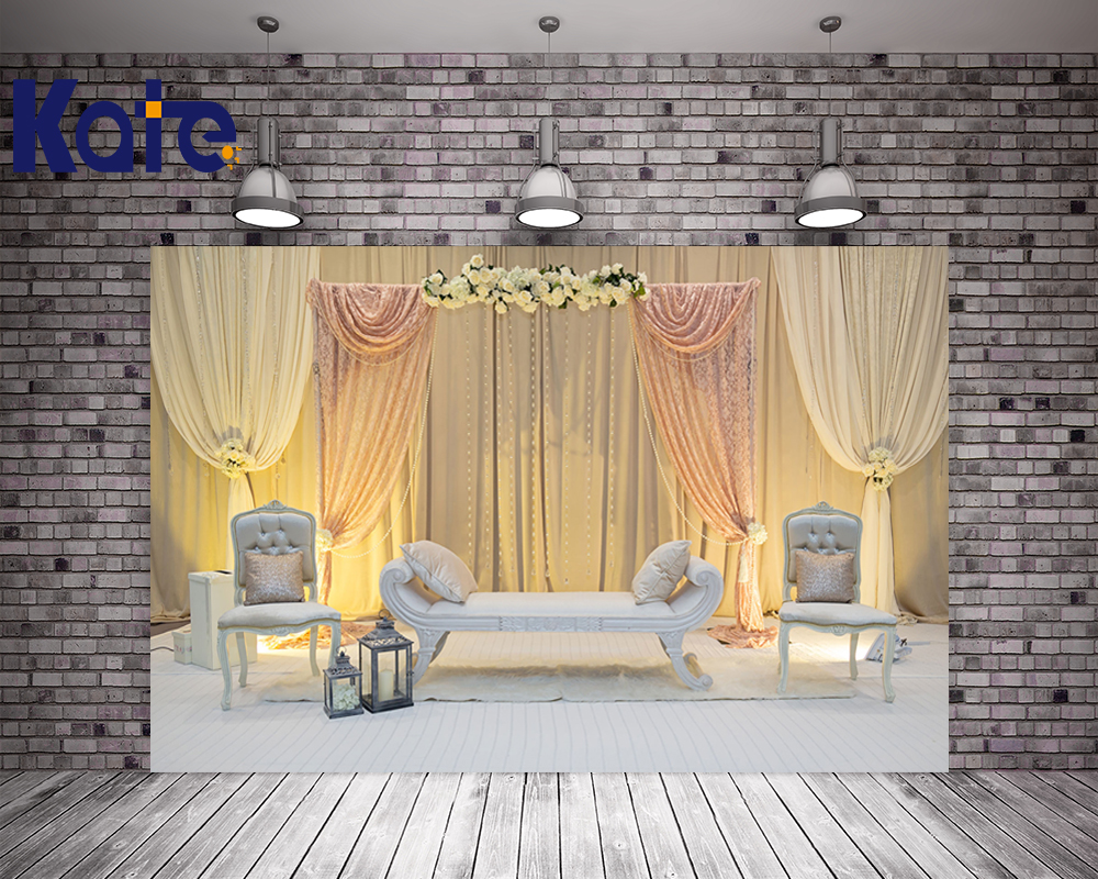Kate Yellow Backgrounds For Photo Studio Wedding 10ft Curtain Photo Shoot Background Washable Microfiber Photography Background<br>