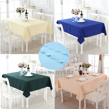 "New 15 Colors Polyester 56""x 56"" Table Cloth Nappe de table Wedding Tablecloth Party Table Cover Dining Table Linen"
