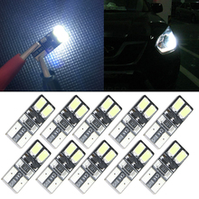 10X Auto Moto Canbus W5W T10 4 LED Erro Free License Plate Bulb Light Car 5W5 Cargo Door Dome Festoon C5W C10W LED Light Xenon(China)
