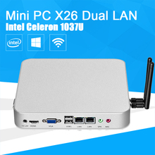 Dual LAN Windows 10 Mini PC Celeron 1037U 1.80GHz Thin Client Desktop Computer 4GB RAM 250GB SSD HDMI VGA RS232 WIFI HTPC Laptop