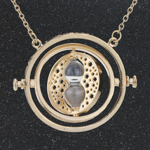 High Quality Time Turner Necklace Hourglass Hermione Granger Gold Color Pendant Fashion Vintage New Hot Movie Jewelry wholesale