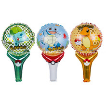 10pcs Squirtle&bulbasaur&Charmander Pokemon Go Foil Balloons Children Gift Birthday/Party/Wedding Celebration Decoration Ballons