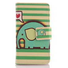 ABCTen Lovely Cartoon Pattern Cell Phone Book Style Card Slot PU Leather Protector Case For BlackBerry Classic Q20