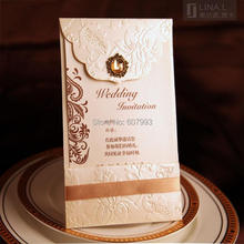 Classical Luxury Crystal wedding Invitation cards, Birthday Business invitations convites with envelope,100pcs, Express shipping